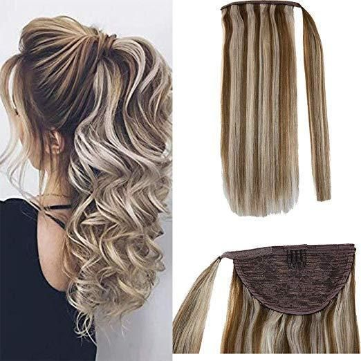 One Piece Tie Up Ponytail Hair Extensions Remy Human Hair