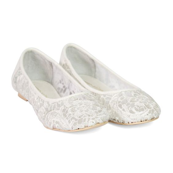 flat lace bridal shoes - photo #33