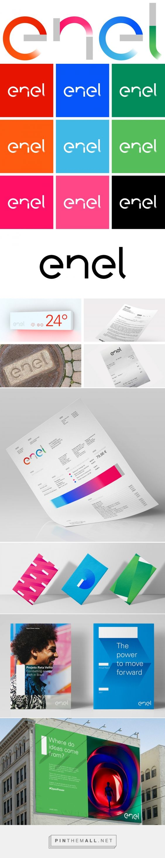 Brand New: New Logo and Identity for Enel by Wolff Olins... - a grouped images picture - Pin Them All
