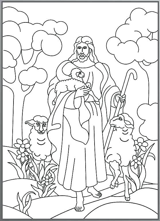 Image Result For Pictures Of Shepherds And Sheep To Color Jesus