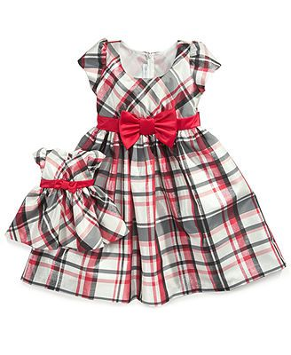 Bonnie Jean Kids Set Little Girls 2-Piece Plaid Dress and ...