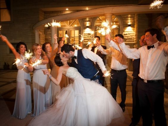 Jeannie & George Tie The Knot In Style - EventSource.ca Blog sparklers are romantic!