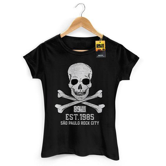 Nova Camiseta Feminina 89 FM A Rádio Rock Est 1985 #RádioRock