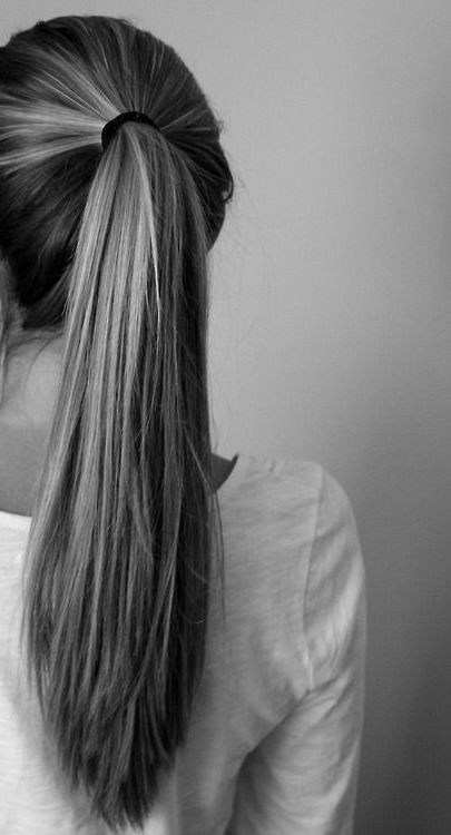 Hair style for long hair Pony tail #hair