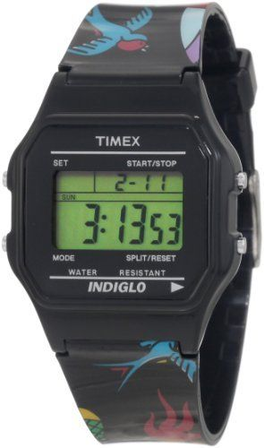 Timex Women's T2N5489J Fashion Digitals Premium Multicolor Watch Timex. $32.99. Time and date (12/24-hour format). 24-hour chronograph. Indiglo night-light. Daily alarm. Hourly chime. Save 40%!
