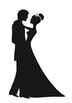 Man And Woman Wedding Silhouette