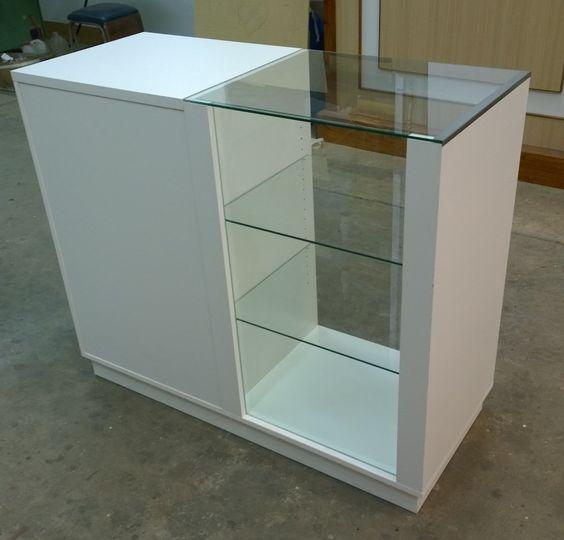 Mostrador con vitrina env o gratis carpinter ainstalmad exhibidores pinterest interiores - Montadores de muebles autonomos ...