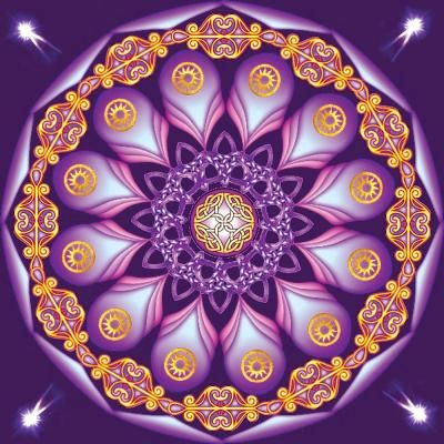 """A """"mandala"""" is an image or thought. Intrinsically beautiful, the intricate round patterns of mandalas are wonderful tools for self-reflection, meditation, and self-therapy."""