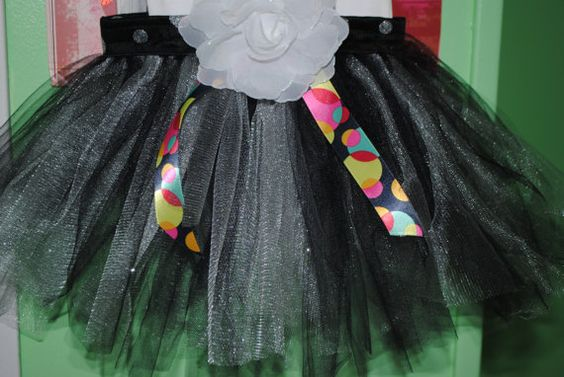 Black and sliver 12-24 M Tutu skirt by Nameitgotit on Etsy, $20.00