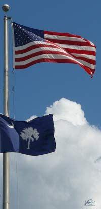 U.S. & South Carolina flags - click to see all state flags.