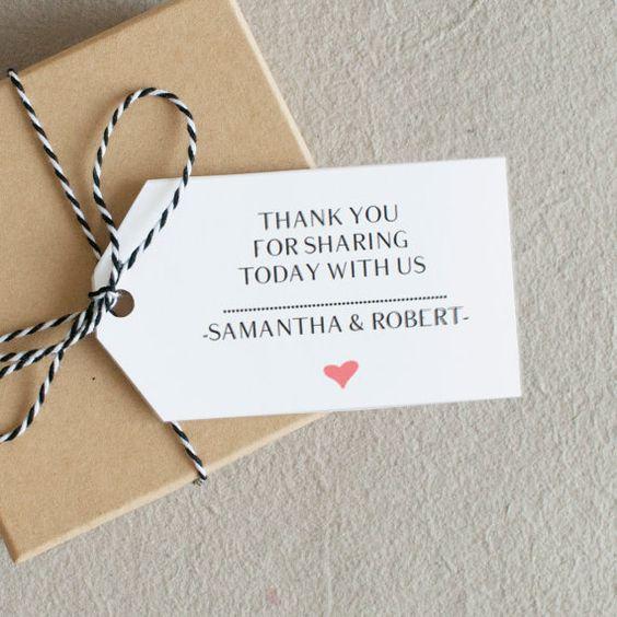 Thank You Tag, Wedding Favor Tag, Printable Wedding Favor, Wedding Thank You, Gift Tage