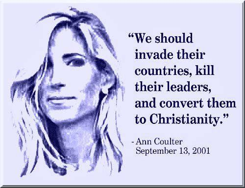 This woman is the most heinous, offensive, bigoted piece of shit in America. Well, her and Rush Limbaugh.