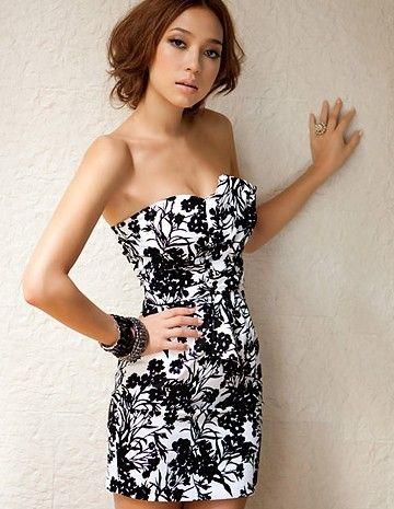 Charming Strapless Full Coverage Dress Black
