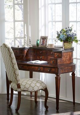 Pretty is as pretty does! Antique styling and classic lines make this Pauline Writing Desk a heirloom for the home.: