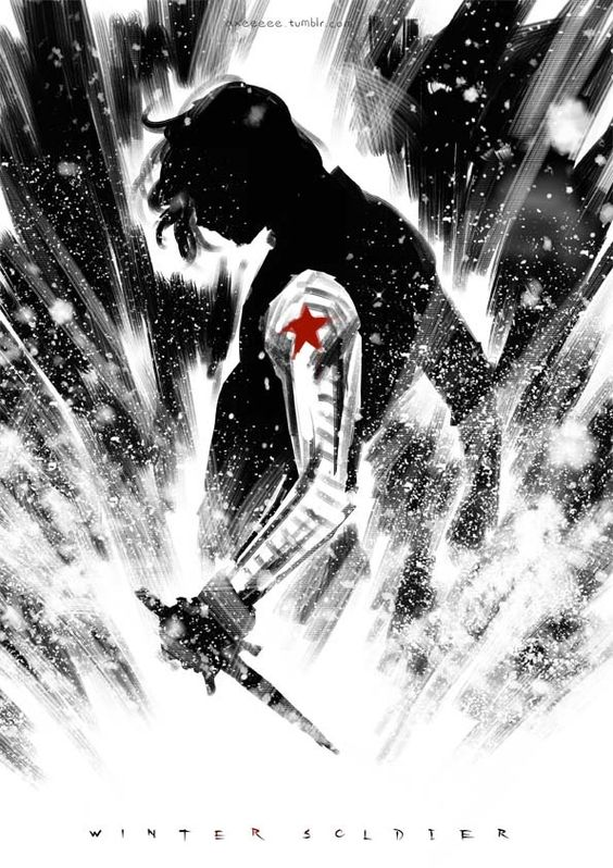The Winter Soldier | Bucky Barnes by axeeeeee >>>ohmygod thats gorgeous