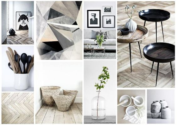 scandinavian inspired arty natural sanctury mood board created on