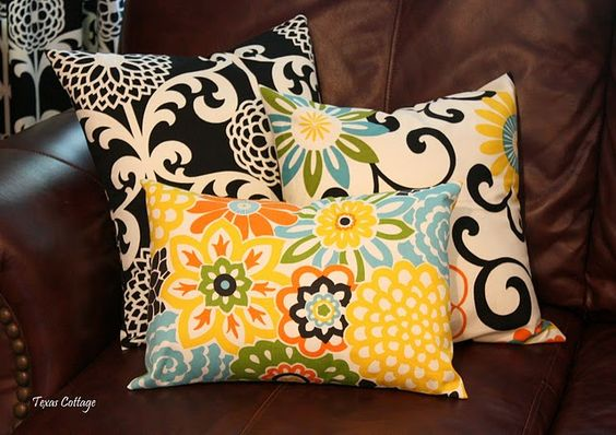 Easy envelope pillow covers.  Easy.  Really easy.  Really, really easy.