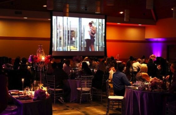 Instead of showing a video montage at your wedding, roll it at the more intimate rehearsal dinner. It will have more meaning for your closest friends and family, and it won't break up the reception festivities. You can also project the video on a screen near the entrance and have it rolling as guests come in, or play it between dinner and dessert.