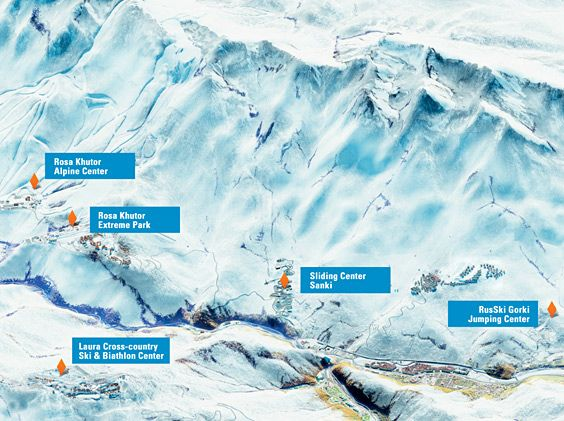 Sochi; mountain venues