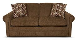 "Rent Furniture England ""Red Mountain Hazelnut"" Full Sleeper Sofa 