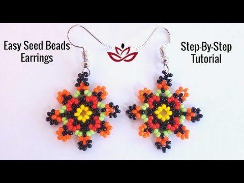 Unusual Seed Beads Earrings Tutorial How To Make Diy Beaded