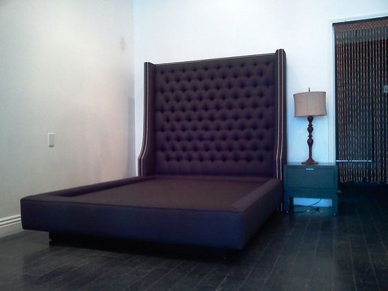 Best Custom Queen Bed With Extra Tall Diamond Tufted Headboard 400 x 300