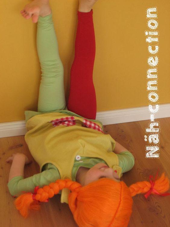 Näh-Connection: Pippi Langstrumpf  Pippi Longstocking costume #costume #pippilongstocking #Halloween