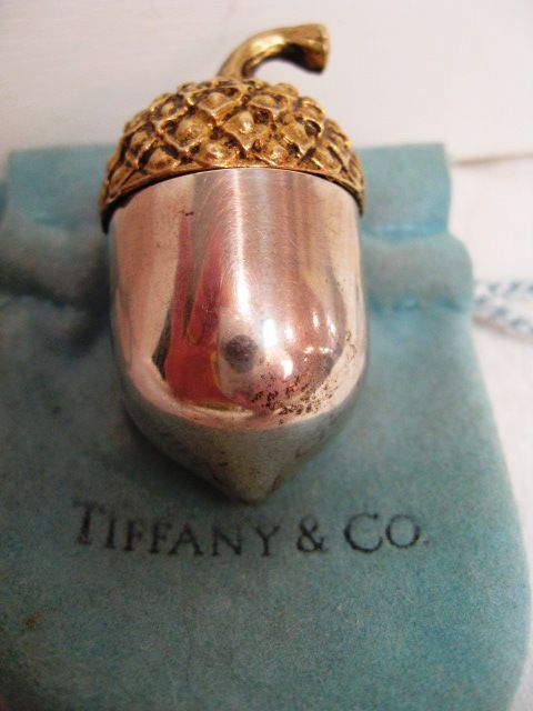 Tiffany Sterling Silver Acorn Shaped Thimble Holder