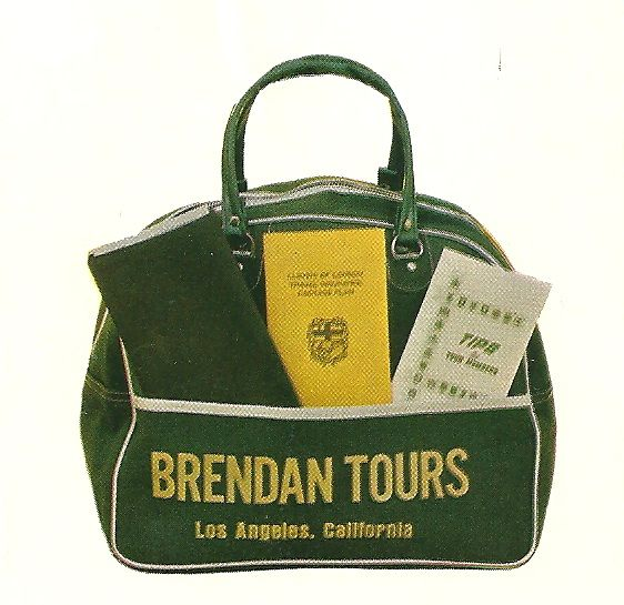 1972 Brendan Tours Travel Bag and documents