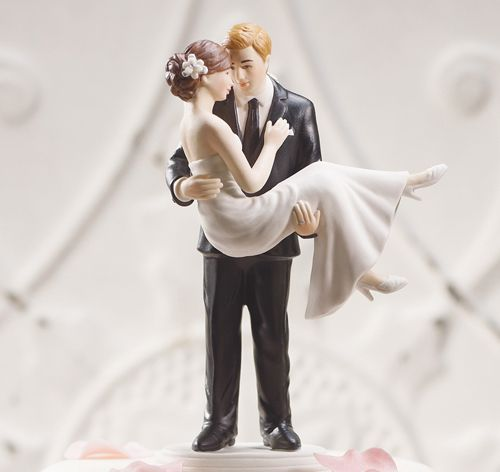 Swept Up in His Arms Custom Wedding Couple Figurine