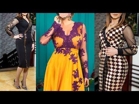 موديلات فساتين اعراس في غاية الاناقة والشياكة Youtube Dresses With Sleeves Long Sleeve Dress Dresses