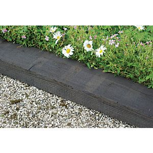 railway sleepers garden borders Google Search Sleepers