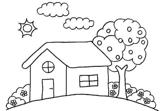 bild-malvorlage-haus-10.jpg (625×416)   Coloring pages ~ kids ...
