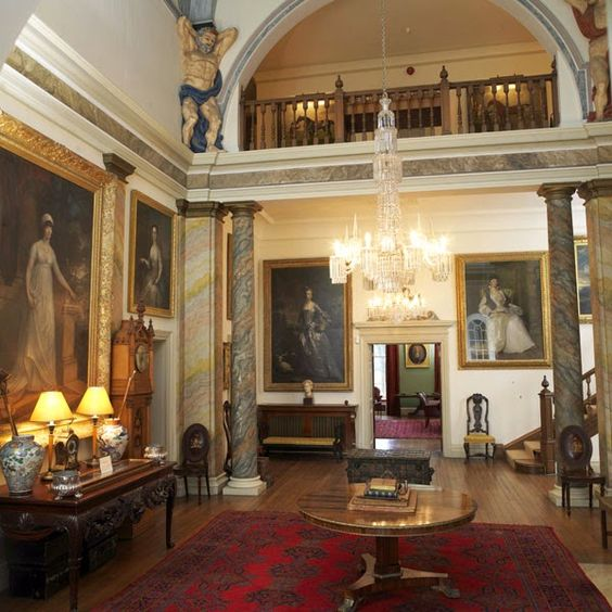 Shabby castle chic rich and gorgeous home decor main hall glenarm castle northern ireland Pinterest home decor hall