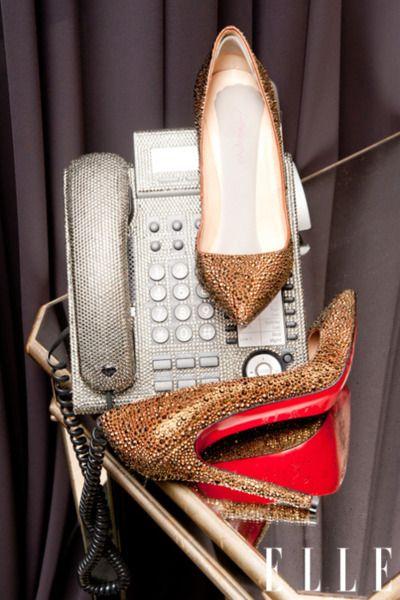 Khloe's glitzy phone.