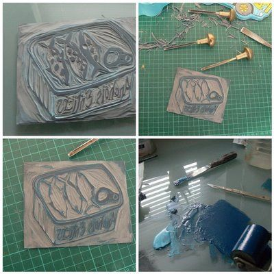 how to make a monoprint step by step