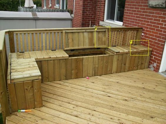 Adding Storage Benches Deck Benches Diy Deck And Storage