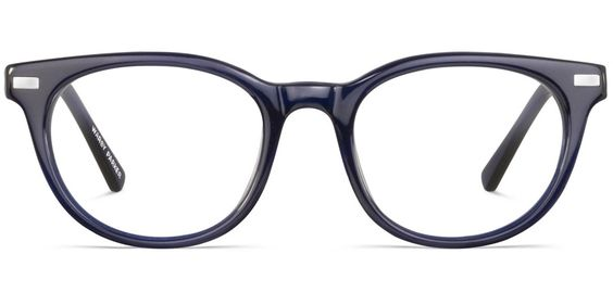 Sinclair in midnight blue.  Ugh, love.  From warby parker