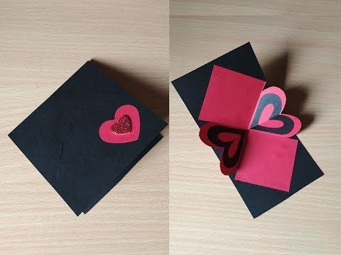 Heart Pop Up Card Arty Hearty Sheetal Khajure Youtube Heart Pop Up Card Greeting Cards Handmade Flower Diy Crafts