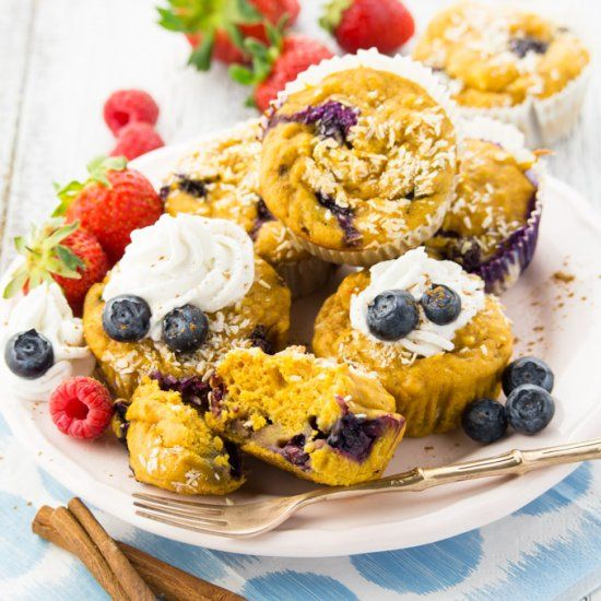These sweet potato blueberry muffins are super easy to make, healthy, incredibly moist, and so delicious!