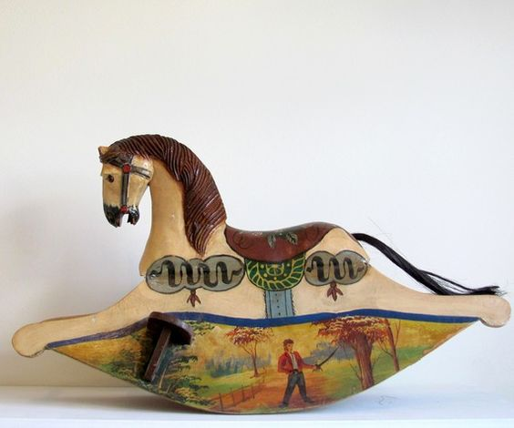 Antique Rocking Hobby Horse, elmstreetmarket