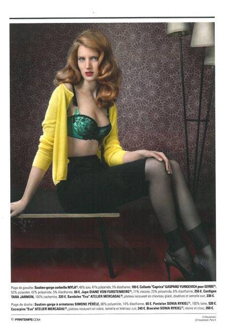 Myla bra in Printemps magazine.