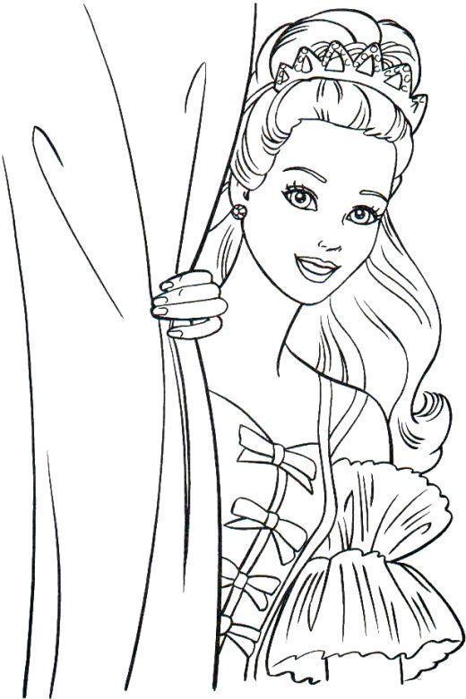 Pretty Barbie Princess Coloring Pages Barbie Coloring Pages Disney Princess Coloring Pages Barbie Coloring