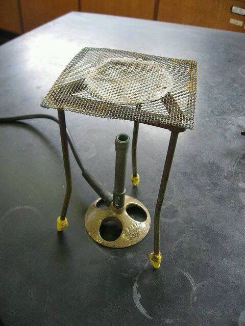 Memories from school chemistry classes. Messing around with the Bunsen burners such fun! I burned the chemistry lab floor mis using ones of these!!