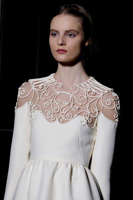 Tilda Lindstam at Valentino haute couture, spring 2013