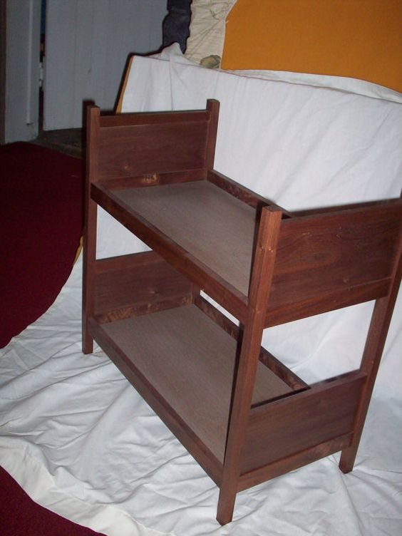 18 Inch Doll Bunk Bed made from an American Doll Pattern ...