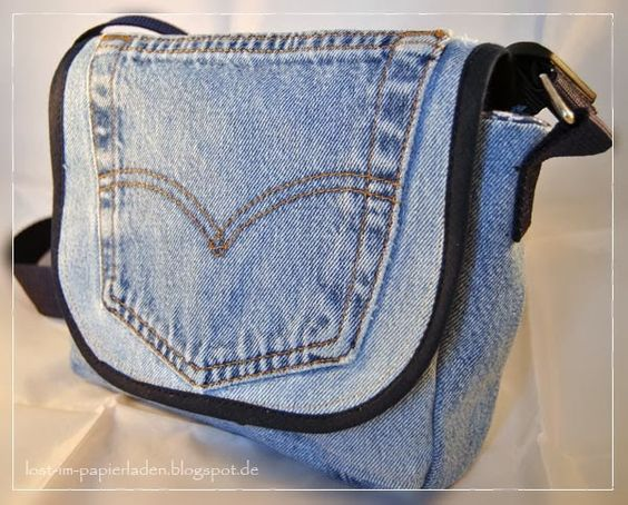 tasche aus alter jeans bag made from old pair of jeans. Black Bedroom Furniture Sets. Home Design Ideas