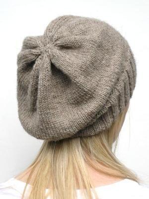 Knitting: DK Eco Slouchy Hat Knitting Pattern by leila.D.leon