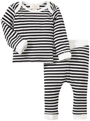 kate spade new york 2 Piece Legging Set (Baby) - Black/ White