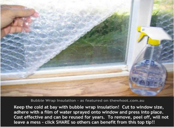 keep your windows insulated with bubble wrap this winter
